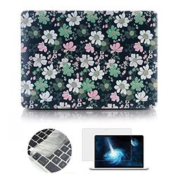 MacBook Air 11 Case, Rinbers 3in1 Hard Case Print Frosted Co