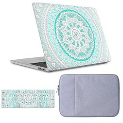 iLeadon Macbook Air 13 inch Case 3 in 1 Bundle Protective So