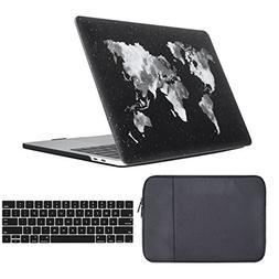 iLeadon Macbook Air 13 inch Case 3 in 1 Bundle Protective So