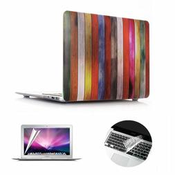 Se7enline Macbook Pro Case Bundle Wood Grain Matte Plastic H