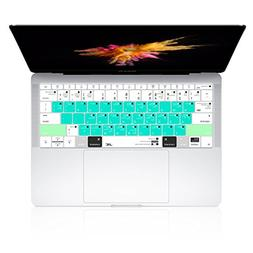 JRCMAX Macbook Keyboard Cover,Premium Mac OS Shortcuts Keybo