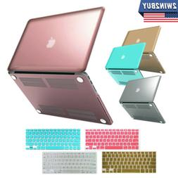 Metallic/Rubberized Hard Case+Keyboard Cover for Macbook Air