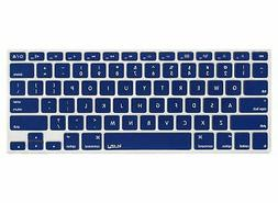 Kuzy NAVY BLUE Keyboard Cover Silicone Skin for MacBook Pro