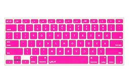 Kuzy Neon PINK Keyboard Cover Silicone Skin for MacBook Pro