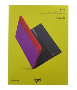 Logitech Blok UltraThin Keyboard Cover Stand Case For iPad A