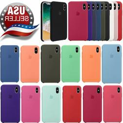 Original Silicone Case Genuine OEM Cover for Apple iPhone X
