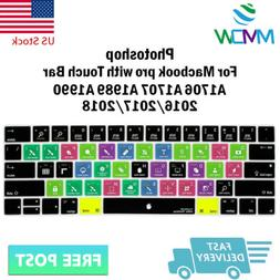 Photoshop PS Hotkey Silicone Keyboard Cover Skin For Macbook