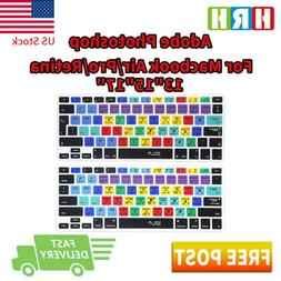 Photoshop PS Shortcuts Keyboard Cover Silicone Skin for Macb