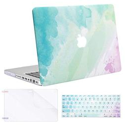 MOSISO Plastic Pattern Hard Case & Keyboard Cover & Screen P