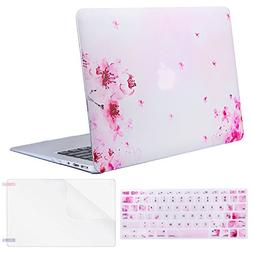 MOSISO MacBook Air 13 Inch Case , Plastic Flower Pattern Har
