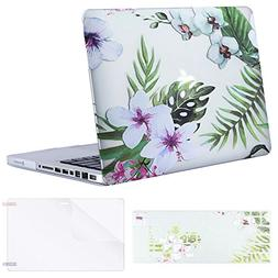 Mosiso Plastic Pattern Hard Case with Keyboard Cover with Sc