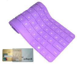 Bingobuy® Purple Ultra Thin High Quality Silicone Keyboard