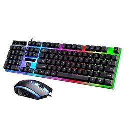 Lookatool LED Rainbow Color Backlight Adjustable Gaming Game