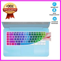 rainbow Keyboard Cover - Compatible HP Stream for 14 Inch La