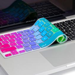 "Rainbow Keyboard Cover Silicone Skin for MacBook Pro 13"" 15"""