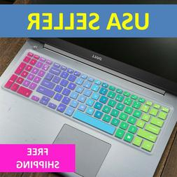 "Rainbow Keyboard Protector Skin Cover Dell Inspiron 15"" 3000"