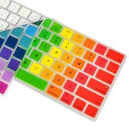 rainbow silicone keyboard skin cover for magic