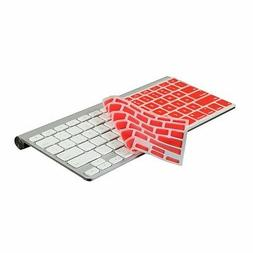 RED Silicone Cover Skin for APPLE Wireless Keyboard