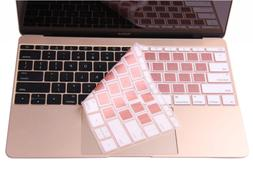 Rose Gold Keyboard Cover for 2018 2017 2016 Release MacBook