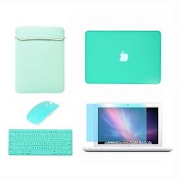 Rubberized See Thru Hard Case, KB Cover, LCD, Bag, Mouse for