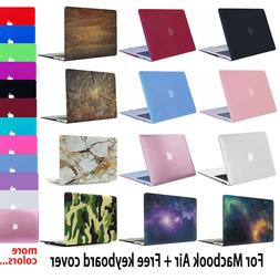 Rubberized Shell Case Cover for Macbook Air 11 13 inch + Key