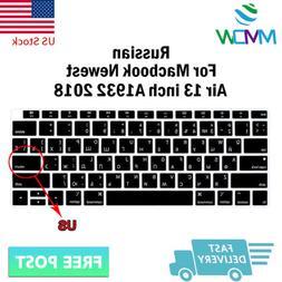 Russian Language Silicone Keyboard Cover Skin For Macbook Ne