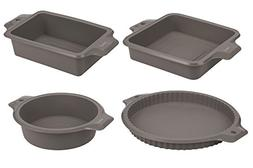 4-Piece Set Silicone Bakeware Molds - Nonstick Baking Suppli