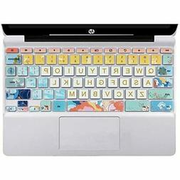 """Silicon Keyboard Cover Skin For HP Chromebook 11 X360 11.6"""","""
