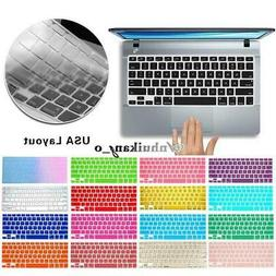 Silicone Keyboard Cover Skin For Apple MacBook Air / Pro / R