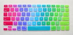 Silicone Colored Rainbow Style Keyboard Protector Cover Wate