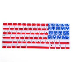 HDE Patriotic Silicone Rubber Keyboard Skin Cover for MacBoo