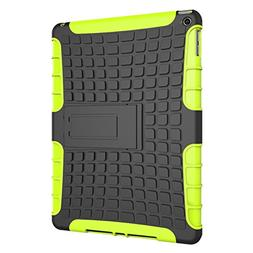 SODIAL Shockproof Heavy Duty Case Cover for iPad Air 2 Green