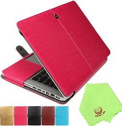 UESWILL Soft PU Leather Folio Sleeve Case Notebook Laptop Ba