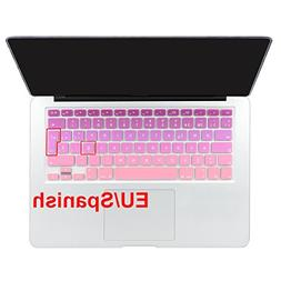 Batianda Spanish ESP Ombre Color Keyboard Cover Protector Wa