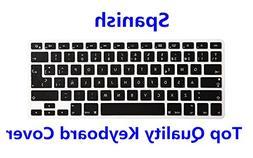 HRH Spanish Language Keyboard Cover Silicone Skin for MacBoo