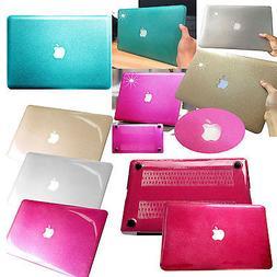 Sparkle Bling Shinny Hard Glitter Case +KB Cover For Macbook