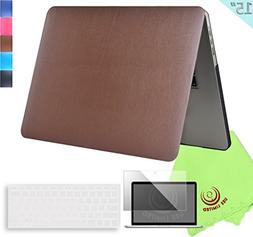 UESWILL 3in1 Supple Leather Hard Shell Case for MacBook Pro