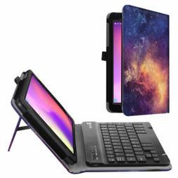 For T-Mobile Alcatel Joy Tab 2019 Folio Case Cover w/Wireles