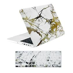 TopCase 2 in 1 Retina 13-Inch White/Gold Marble Rubberized H