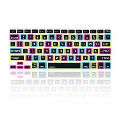 """TopCase Candy Black Keyboard Cover Skin for Macbook 13"""" Unib"""