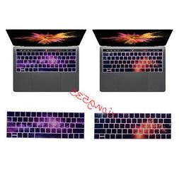 Touch Bar Night Galaxy Pattern Texture Keyboard Cover Skin F