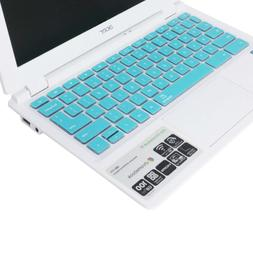 Forito Turquoise Blue Silicon Keyboard Cover For Acer 11.6 C