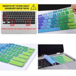 Colorful Keyboard Cover Compatible 2019 2018 ASUS Chromebook