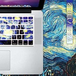 starry night gogh keyboard cover