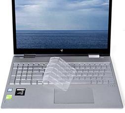 Ultra Thin TPU Clear Keyboard Cover for 2018 HP Envy x360 15