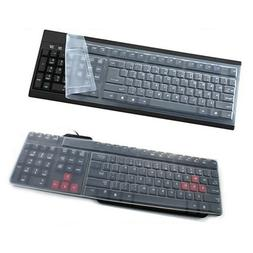 universal clear silicone desktop computer keyboard cover
