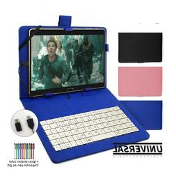 Universal Keyboard Case For Android Tablet Phone 5-11 Cover