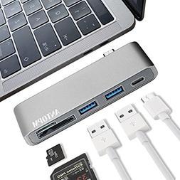 ANTOPM USB-C Hub Multiport Type-C Hub Adapter with 2 USB 3.0