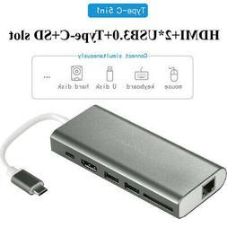USB-C Universal Docking Station Stand Video Monitor Display