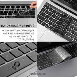 Waterproof Clear Silicone Keyboard Cover Skin F 2016 Macbook
